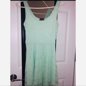 Sea foam Green Lace dress
